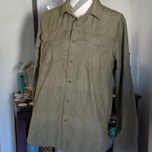 Prana Men's Long Sleeve Button Down Shirt Small